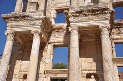 Die Bibliothek von Celsus bei Ephesus, die Türkei Lizenzfreies Stockfoto