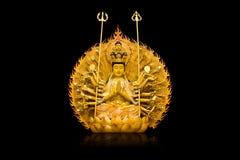 Die Bilder von Guanyin auf schwarzem Hintergrund Lizenzfreie Stockfotos
