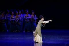 Die Bitterkeit des Qin-Mutter-D drei actï ¼ š ` Traums des Zerreißens von silk ` - episches Tanzdrama ` Silk Prinzessin ` lizenzfreie stockfotografie