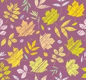 Die Blätter der Bäume, nahtloses Muster, Purpur, Farbe, Schattierung, Vektor Stockfoto