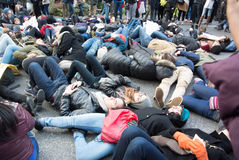 Die In Black Lives Matter Protest Stock Photo