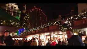 Die Blaeser von Koelner Weihnachtsmarkt stock footage