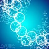 Die Blasen im Wasser Lizenzfreies Stockfoto