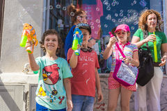 Die Blasen-Parade 2015 Stockfoto