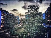 Die blaue Farbe Lizenzfreie Stockfotos