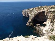 Die blaue Grotte von Malta, Europa Lizenzfreie Stockbilder