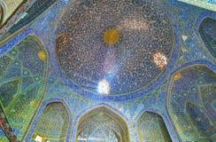 Die blaue Haube von Chaharbagh-madraseh, Isfahan, der Iran Lizenzfreie Stockfotos