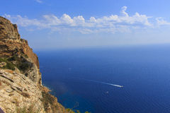 Die blaue Küste Stockbilder