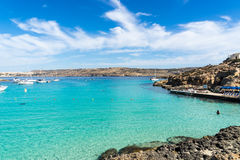 Die blaue Lagune erhält seinen Namen von den schönen Farben des s Stockfotos