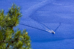 Die blaue Lagune von †‹â€ ‹das adriatische Meer Stockfotos