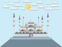 Die blaue Moschee Die Türkei Istanbul Wunder der Welt Stock Abbildung