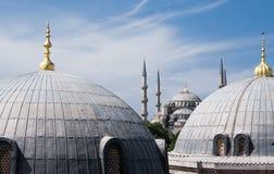 Die blaue Moschee in Istanbul Stockfotos