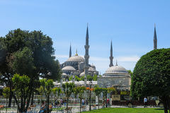 Die blaue Moschee, Sultanahmet Camii, Istanbul, die Türkei Stockbilder