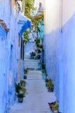 Die blaue Stadt Chefchaouen Marokko Lizenzfreies Stockfoto