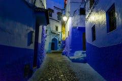 Die blaue Stadt Chefchaouen Marokko Lizenzfreies Stockbild