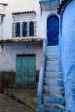 Die blaue Stadt Chefchaouen Marokko Lizenzfreie Stockfotos