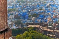 Die blaue Stadt von Rajasthan Jodhpur.India Lizenzfreies Stockfoto