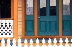 Die blaue Tür stockbilder