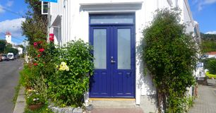 Die blaue Tür Stockfoto