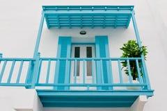 Die blaue Terrasse Lizenzfreie Stockbilder