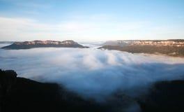 Die blauen Berge Stockfotografie