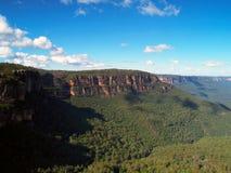 Die blauen Berge in Australien Stockfotografie