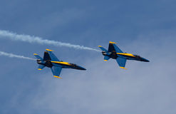 Die blauen Engel bei Seafair Lizenzfreie Stockbilder
