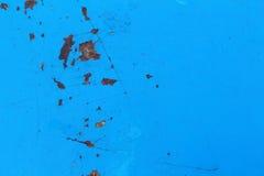 Die blauen Wände ist Hintergrund Stockfotografie