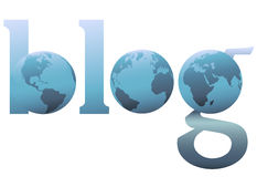 Die Blog-World Wide Weberde des Ganzen große blaue Lizenzfreie Stockfotografie