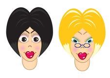 Die Blondine und der Brunette lizenzfreie abbildung