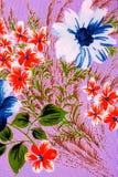 Die Blume auf dem Gewebe Stockfoto