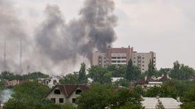 Die Bombardierung der Stadt stock video footage