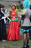 Die Bon Odori Festival Animes Lizenzfreie Stockbilder