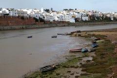 Die Boote in Marokko Stockbilder