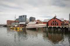 Die Boston-Teeparty in Boston MA Lizenzfreies Stockfoto