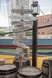 Die Boston-Teeparty in Boston MA Stockbild