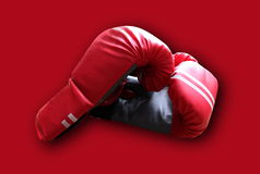 Die Boxhandschuhe K O Stockfotos