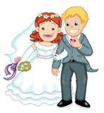 Die Bräutigame Stockbild