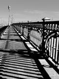 Die Brücke über dem Fluss Neva Lizenzfreies Stockbild