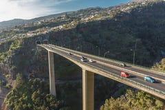 Die Brücke über der Schlucht Lizenzfreies Stockbild