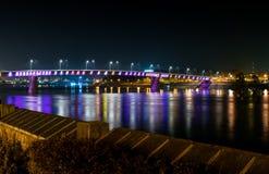 Die Brücke auf der Donau Lizenzfreies Stockbild