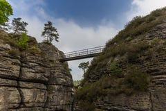 Die Brücke Bastei Stockbild