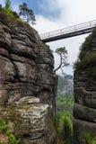 Die Brücke Bastei Lizenzfreies Stockfoto