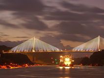 Die Brücke Centenario in der Republik Panama lizenzfreie stockfotografie