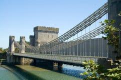 Die Brücke an conway Lizenzfreie Stockfotografie