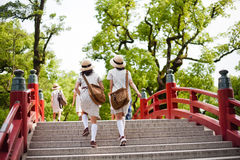 Die Brücke in Dazaifu Tenmagu Lizenzfreie Stockfotos