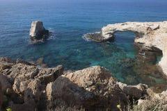 Die Brücke der Liebe in Agia Napa stockbilder
