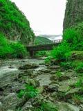 Die Brücke der Schlüssel Sohodolului Stockfoto