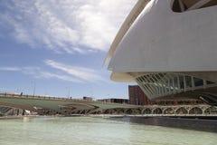 Die Brücke an der Stadt von Künsten und von Wissenschaft, Valencia Stockbilder