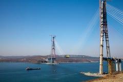 Die Brücke in der Vladivostok-Stadt Russland. Stockfotografie